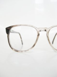 4a05142306 Vintage 1970s Round Eyeglasses - Light Clear Grey Acetate - Teen and Young  Girl Glasses - Vintage Teen Optical Frames - Round Eyeglasses