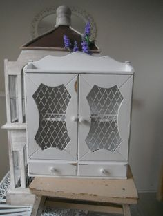 spice cabinet spice rack shabby chic rustic kitchen by ShabbyRoad, $38.00