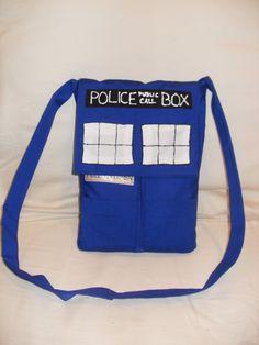 87893c4581b Items similar to TARDIS Convertible Messenger Bag Backpack on Etsy