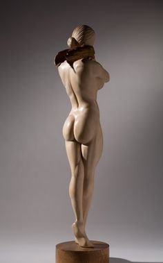 James McLoughlin wood sculpture Female Figure back