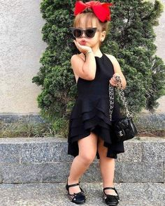 Girls Summer Dresses Types and Styles, Kids Casual Fashion for Girls to Wear in Summers Dresses Kids Girl, Little Girl Outfits, Kids Outfits Girls, Toddler Girl Outfits, Little Girl Fashion, Fashion Kids, Fashion Hub, Winter Fashion, Adorable Petite Fille