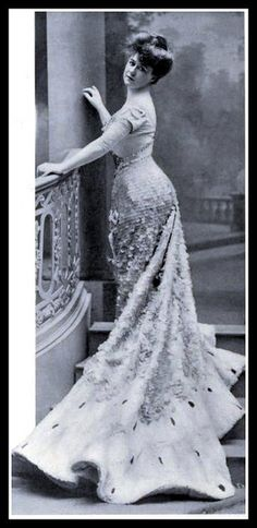 The point is to feel beautiful ...  no matter what you're wearing.  Sparkly number - 1905 Edwardian Fashion -