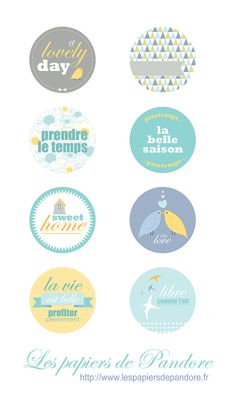 Free etiquettes {labels} birds