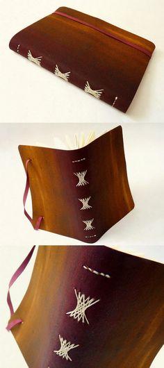 encadernação artistica, capa em recouro tingido. Luisa Gomes Cardoso para o Canteiro de Alfaces