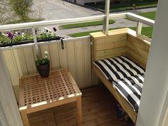 bänk förslag Outdoor Spaces, Outdoor Decor, Minimal Design, Bathroom Interior, Balcony, Minimalism, Outdoor Furniture Sets, House Design, Living Room