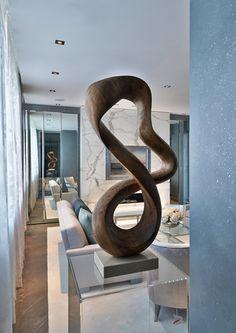 Arts And Crafts Pottery Code: 9280850175 Abstract Sculpture, Wood Sculpture, Interior Architecture, Interior And Exterior, World Of Interiors, Interior Decorating, Interior Design, Living Room Art, Tree Art