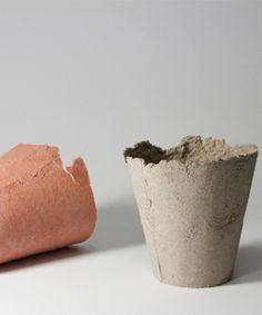 Ett La Benn | Pots made of biodegradable cellulose | Sustainable Design |