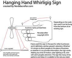 Free Patterns and ideas: hanging hand whirligig sign