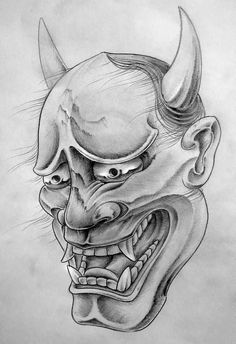 Hannya-Mask-Tattoo-Design-by-TeroKiiskinen.jpg (685×1000)                                                                                                                                                     More