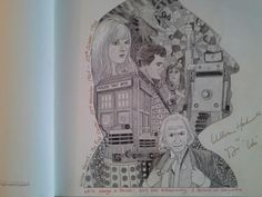 Doctor Who colouring book - Tardis in flight using acrylics | crafts ...