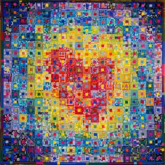 """""""Hope"""" Quilt by Kikuyo Miyashita from Japan. Exhibited at the Wisconsin Museum of Quilts and Fiber Arts in Cedarburg, Wisconsin. Photo by Jeanne Selep"""