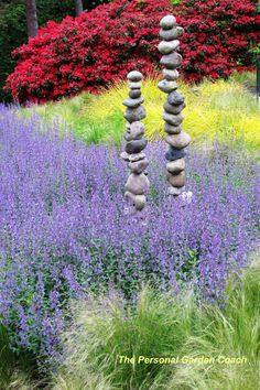 I could make tons of rock towers!  Garden Designer's Roundtable: Ideas for Adding Texture to Your Landscape « Personal Garden Coach
