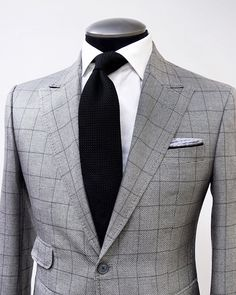 "494 Likes, 18 Comments - KING & BAY (@mykingandbay) on Instagram: ""SILKY SILVER WINDOWPANE Take a look at this extremely luxurious KING & BAY Silk & Wool Silver…"""