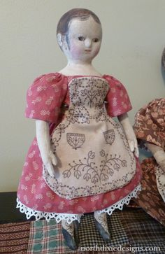 Northdixie Designs: Mini Izannah Walker Inspired Doll Finally Finished