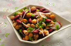 A super simple yet extremely healthy, nutritious and tasty salad. If you like the Three bean salad served at Nandos then it tastes almost t...
