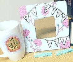 Switch it to delta gamma Gamma Phi Crafts, Phi Sigma Sigma, Delta Phi, Kappa Kappa Gamma, Gamma Phi Beta, Sorority Crafts, Big Little Gifts, Little Presents, Alpha Omicron Pi