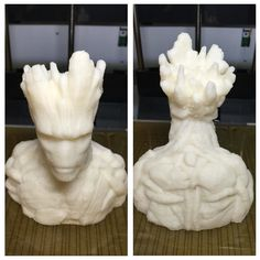 I am groot! #guardiansofthegalaxy #groot #iamgroot #marvel #3dprint #3dprinting #by3dprint #3dprinted #bust by by3dprint