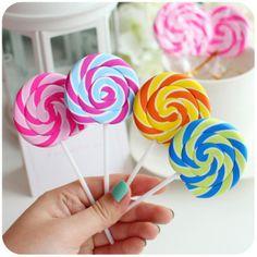 Realistic Lollipop Eraser