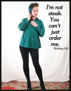 1980's Emerald Green Long Sleeve BLOUSE by Orchid by sideshowsam, $22.00