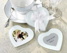 Posavasos cristal para boda personalizable