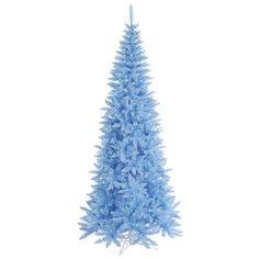 Vickerman 5.5' Sky Blue Slim Fir Artificial Christmas Tree with 300 Mini Lights