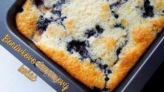 Borůvkovo-banánový koláč