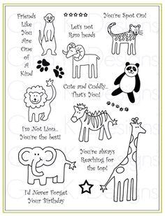 Draw animals handout