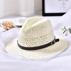 HT1560 Summer Straw Hat 2018 New Unisex Fedora Panama Hats with Belt  Handmade Wide Brim Beach Hat Men Women Tribly Jazz Sun Hats 302215c755cc