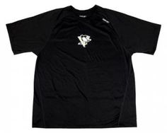 1e7401f2a Pittsburgh Penguins Reebok Men s Black Logo Speedwick T-Shirt