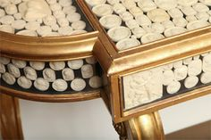19th Century Console Displaying 18th and 19th Century Intaglios at 1stdibs