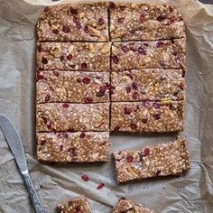 10 Gluten-Free Breakfast Recipes - Cherry Quinoa Granola Bars - 10 Gluten-Free Breakfast Recipes - Men's Fitness Like for Quinoa Granola Bars, Chewy Granola Bars, Protein Bar Recipes, Protein Snacks, Homemade Protein Bars, Protein Cake, Protein Muffins, Protein Cookies, Healthy Recipes