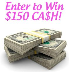 {Giveaway} $150 CA$H from Ebates!