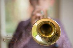 play the trompet, natural light, daylight studio, Fine art