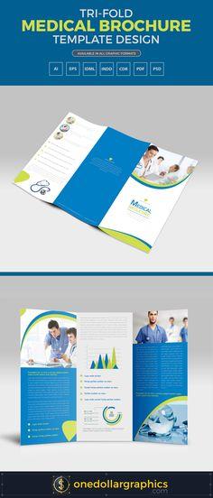 Doctor Medical Hospital Health Tri-Fold Brochure 2 Tri fold - medical brochures templates
