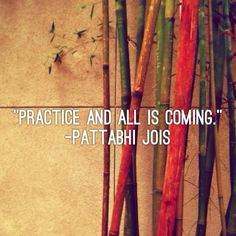 """Practice and all is coming."" - Pattabhi Jois #YogaQuotes"