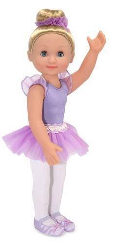 "Alexa Adorable  14"" Ballerina Baby Doll  w/ Leotard and attached Sparkly Tutu  #MelisaDoug"