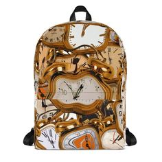 This medium size backpack is just what you need for daily use or sports activities! The pockets (including one for your laptop) give plenty of room for all your necessities, while the water-resistant material will protect them from the weather. Trip Tour, Time Clock, School Parties, Sports Activities, Travel Tours, Girls Bags, Backpack Bags, Travelling, Craft Supplies