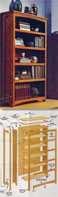 DIY Bookcase - Furniture Plans and Projects   WoodArchivist.com