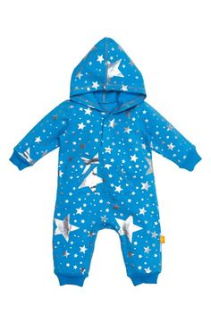MASALABABY 'Starshine' Hooded Organic Cotton Romper (Baby Boys) available at #Nordstrom
