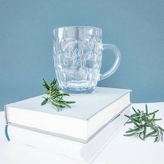 Personalised Tankard Fathers Day Glass Monogram Husband