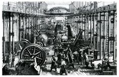 Hartmann Maschinenhalle 1868  Die Jahre zwischen 1840 und 1870 gelten als klassische Phase der industriellen Revolution in Deutschland.
