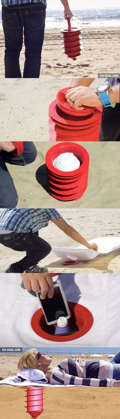 Great item to stash your valuables when at the beach! #camping #outdoors