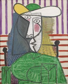 Pablo Picasso (b. 1881). Bust of a Woman. 1944. Oil paint on canvas. 81 x 65 cm. Tate Modern, London.