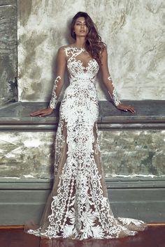 Ausgefallenes Hochzeitskleid aus Spitze