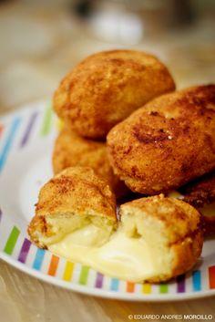 croqueta de papa con queso
