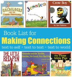 One important comprehension strategy we want readers to use is making connections. There are three kinds of connections readers make before, during or after reading: text to self – This reminds me of my own life… text to text- This reminds me of another book I've read/movie I've watched… text to world- This reminds me this …