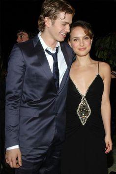 Natalie Portman and Hayden Christensen.