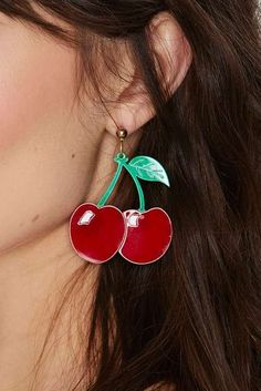 Tongue Tied Cherry Earrings