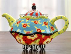 shelton-turqteapot- the sugar & creamer are equally colorful!!