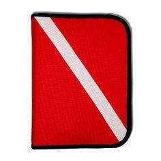 Scuba Diving Log Book - Red Cordura Diver Down Flag Three-Ring Binder